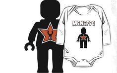 """Minifig [Black] with Customize My Minifig Star Logos"" Kids Clothes by ChilleeW 