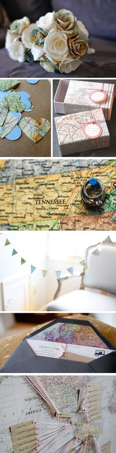 """travel/map details... cute to tie into our """"adventures"""" together"""