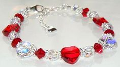 www.BestBuyBeads.com - Be My Valentine Swarovski heart bracelet - Project #110 on the Idea Page.