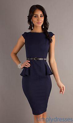 Cap Sleeve Peplum Dress by XOXO at SimplyDresses.com#dresses