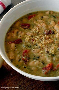 5-ingredient pesto bean soup recipe