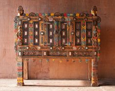 Colorful Indian Damchiya Cabinet   SHOP NECTAR - High Falls, NY