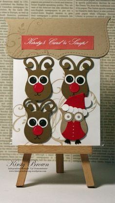 Christmas 'owl' decorations...I really need that owl punch from Stampin Up!!