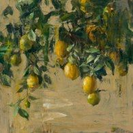 Quang Ho - Lemon Tree, 24x24, oil on panel,