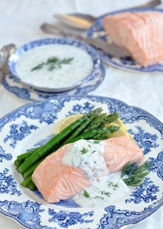 How to poach fish and shellfish; Poached Salmon with Creamy Dill Sauce
