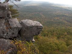 View from Pulpit Rock, Cheaha State Park Alabama