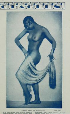 Josephine Baker can't keep her clothes on in a 1927 issue of Paris Plaisirs