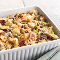 Apple, Bacon, and Leek Stuffing from bhg.com