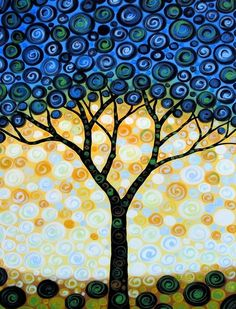 Blueberry Tree  8 x 10 Glossy Print by PaintingPrints on Etsy, $22.00--- LOVE THIS!!!!!!!