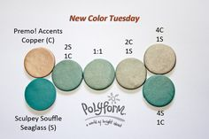 green + copper clay blends