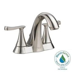 American Standard Chatfield 4 in. Centerset 2-Handle Bathroom Faucet in Brushed Nickel-7413201.295 - The Home Depot