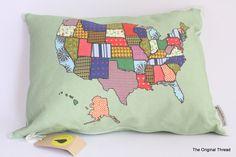 USA States / Flag Designer Cushion Pillow Cover