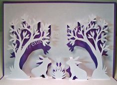 paper cutting :: Easter Pop-up card, free template