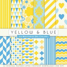 Blue & Yellow Digital Papers