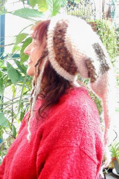 Fuzzy Warm Crochet Elf Hat