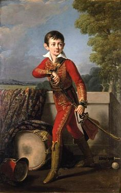 Portrait of Anatole Demidoff (1813-1870), 1820 by Robert Lefèvre (1755–1830) Mediumoil on canvas DimensionsHeight: 156 cm (61.4 in). Width: 100 cm (39.4 in).