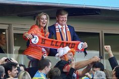 The #Netherlands get the royal seal of approval from King Willem-Alexander  Queen Maxima after their 2nd #WorldCup win today.