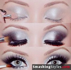 Metal Eye Shadow Tutorial #eyeshadow #makeup #beauty