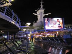Outdoor Movie Screen Aruba Cruise, Enchantment Of The Seas, Southern Caribbean Cruise, Freedom Of The Seas, Outdoor Movie Screen, Harbor Town, Bridgetown, Island Tour, Shore Excursions