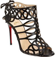 Christian Louboutin Zigouwi in Black  I'd have to learn how to walk again, but man they are CUTE