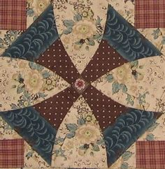 "Raleigh (North Carolina)  block in ""1865, passion sampler"" quilt"