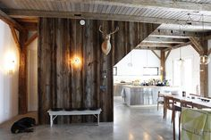Bovina House entry - rustic - entry - new york - kimberly peck architect