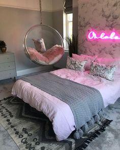 Cute Bedroom Decor, Bedroom Decor For Teen Girls, Room Design Bedroom, Teen Room Decor, Girl Bedroom Designs, Stylish Bedroom, Room Ideas Bedroom, Girl Bedrooms, Master Bedroom