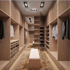 Explore the best of luxury closet design in a selection curated by Boca do Lobo to inspire interior designers looking to finish their projects. Discover unique walk-in closet setups by the best furniture makers out there Closet Clean, Closet Walk-in, Dressing Room Closet, Closet Mirror, Dressing Rooms, Closet Bench, Boys Closet, Dressing Area, Mirror Door