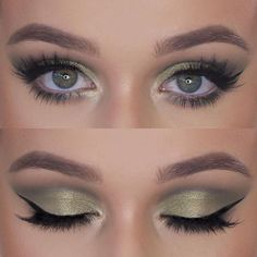 Green Shadow for Green Eyes ------------------------------ @anastasiabeverlyhills Brow Definer @anastasiabeverlyhills Modern Renaissance Palette @makeupgeekcosmetics Enchanted Forest and Typhoon @maccosmetics Golden Olive Pigment @houseoflashes Iconic La