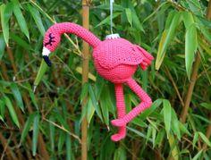Little Amigurumi Cat Free Crochet Pattern - Stella's Yarn Universe Crochet Flamingo, Flamingo Pattern, Crochet Gratis, Free Crochet, Learn Crochet, Crochet Motifs, Crochet Designs, Double Crochet, Tropical