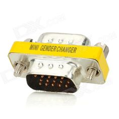 Model: VGA D-SUB; Quantity: 1; Color: Golden; Material: Stainless steel; Interface: VGA; Power Supply: 100~240V; Features: Great for VGA interface connecting; Packing List: 1 x Adapter; http://j.mp/1ljL4ed