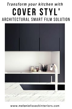 Upgrade your existing kitchen cabinets and worktops without replacing them with Cover Styl' architectural smart film solution. This sustainable product will give your kitchen a whole new look on a budget! Give your kitchen a makeover even if it is laminate or melamine. Check out these amazing kitchen before and afters!