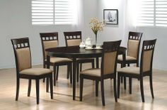 7pc Contemporary Cappuccino Finish Solid Wood Dining Table Chairs Set by Coaster Home Furnishings, http://www.amazon.com/dp/B000MJ0G94/ref=cm_sw_r_pi_dp_Pn5Mrb0AV8ARA