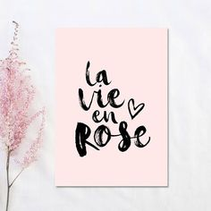 Grab this Gorgeous La Vie En Rose Print from Etsy! Pink Wall Art, Nursery Wall Art, Girl Nursery, Nursery Quotes, Diy Wall Decor, Room Decor, Baby Decor, Girl Decor, Room Art