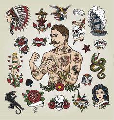 American-Traditional-Tattoo.jpg (973×1024)