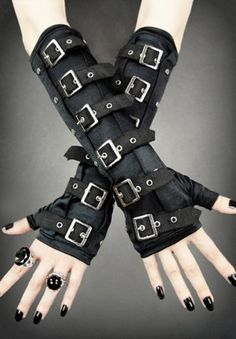 Gothic Buckle Arm Warmers