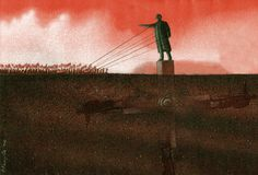 elguindilla:  El derrocamiento interminable ABVH, ilustración original de Pawel Kuczynski