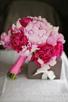 Pink and Hot Pink.  Flowers of Charlotte loves this! Find us at www.charlotteweddingflorist.com