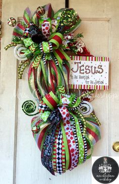Christmas wreath grapevine wreath deco by MrsChristmasWorkshop
