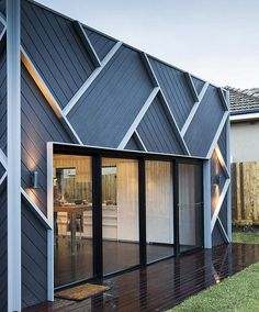 Adding geometric texture to the exterior of a home.