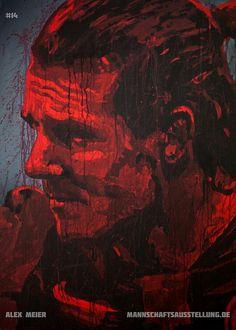 Alex Meier, Eintracht Frankfurt, acrylics on canvas, 70cmx100cm