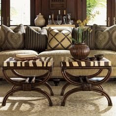 Royal Kahala Coco Shell Zebra-Print Striped Delight Accent Table by Tommy Bahama Home at Baer's Furniture Tommy Bahama, Home Interior, Interior Decorating, Classic Interior, Interior Ideas, West Indies Decor, West Indies Style, African Interior Design, Ethno Design