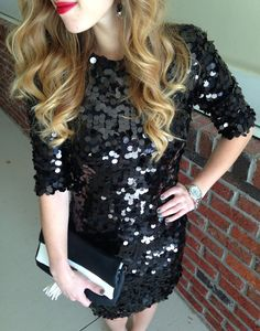 Ideas For Birthday Party Outfit Winter Rehearsal Dinners - Outfits Party Dress Outfits, Birthday Party Outfits, Birthday Dresses, Black Sequin Dress, Black Sequins, Rehearsal Dinner Outfits, Rehearsal Dinners, Holiday Outfits, Winter Outfits