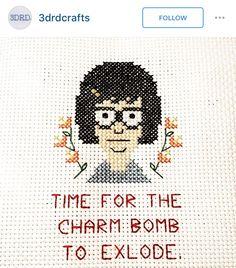 Bob's burgers cross stitch