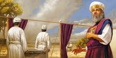 High Priest Aaron looks away as the bodies of Nadab and Abihu are carried outside the camp