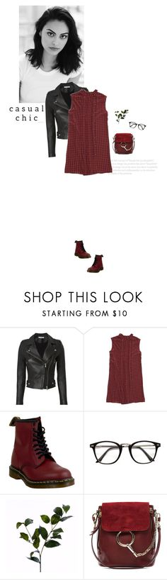 """""""Easy Outfitting: Throw-and-Go Dresses"""" by catchsomeraes ❤ liked on Polyvore featuring IRO, Prada, Dr. Martens, Wyld Home, Chloé, Leather, plaid and easydresses"""
