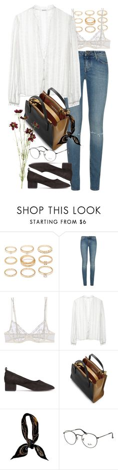 """Untitled #9565"" by nikka-phillips ❤ liked on Polyvore featuring Forever 21, Yves Saint Laurent, La Perla, Rodarte, Marni, Hermès, Ray-Ban and OKA"