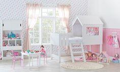Tok&Stok Quarto infantil Dê asas à imaginação para decorar o quarto das meninas com muito conforto e originalidade.