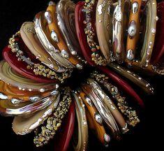 DSG perles à la main organiques Murano - sur commande (pomme au Caramel)
