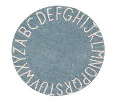 Washable Rug Round ABC Vintage Blue - Natural #washablerugs #washablerugs #lorenacanals #abc #machinewashablerugs #kidsdecoration #rugsforkids